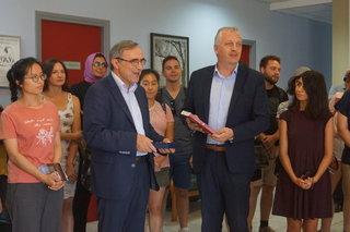 """Ο Πρύτανης του Πανεπιστημίου Ιωαννίνων και φοιτητές του προγράμματος """"Erasmus"""" επισκέφθηκαν το Δήμο Ζίτσας"""